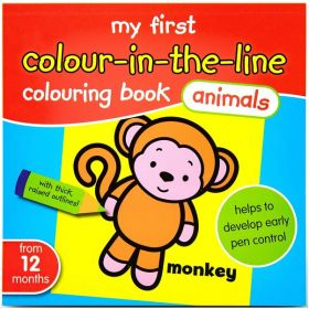 My First Colour-in-The Line: Animals (Paperback)