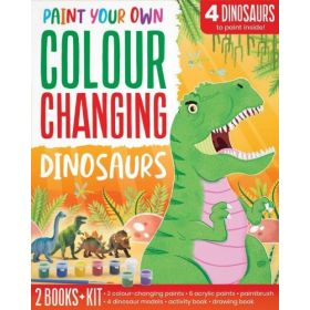 Colour Changing Dinosaurs: Paint Your Own (Paperback)