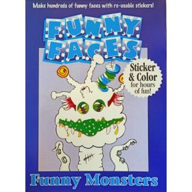 Funny Faces Sticker Books: Funny Monsters (Paperback)