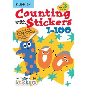 Kumon: Counting With Stickers 1-100 (Paperback)