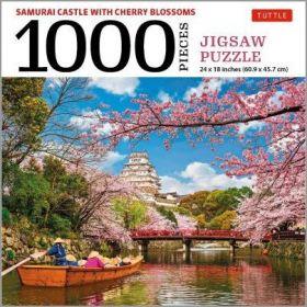 Samurai Castle & Cherry Blossoms - 1000 Piece (Jigsaw Puzzle)