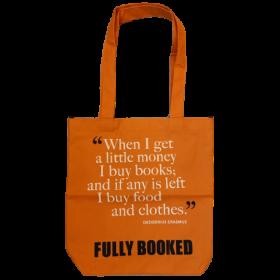 Fully Booked Quote Bag: Erasmus, Small (Orange)