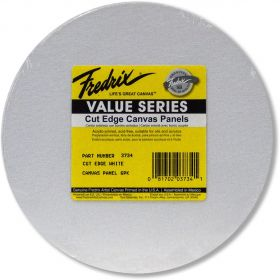 Tara Fredrix: 8 inches Round 6PK Cut Edge Panel (White)