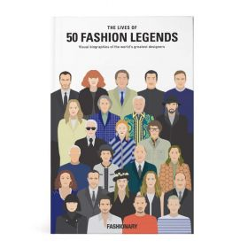 Lives Of 50 Fashion Legends (Hardcover)