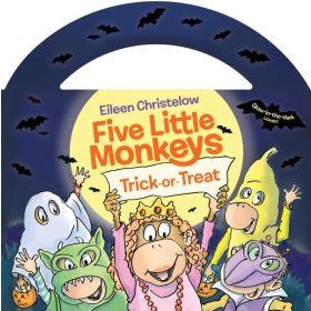 Five Little Monkeys Trick-or-Treat, Glow-in-the-Dark Edition (Board Book)