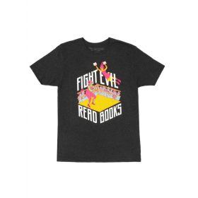 Out of Print: Fight Evil, Read Books Unisex T-Shirt, 2019 (X-Large)