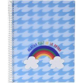 Miquelrius: Agatha Ruiz De La Prada A4 Lined Notebook (Waves)