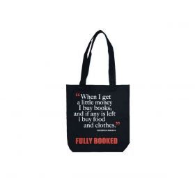 Fully Booked Quote Bag: Eramus, Small (Black)