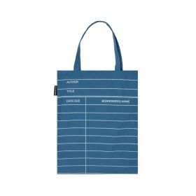 Out of Print: Library Card, Blue Tote Bag (Denim)