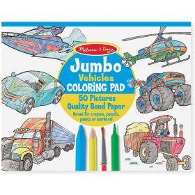 Melissa & Doug: Jumbo Coloring Pad - Vehicles