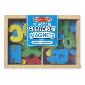 Melissa & Doug: Wooden Letter Alphabet Magnets