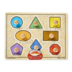 Melissa & Doug: Deluxe Jumbo Knob Wooden Puzzle - Geometric Shapes