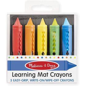 Melissa & Doug: Learning Mat Crayons