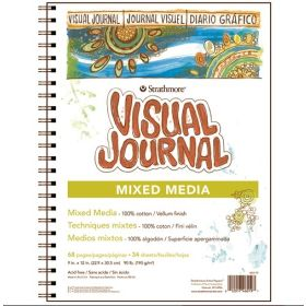 "Strathmore Visual Journal- Mixed Media Vellum 9""x12"""