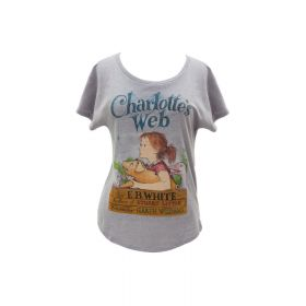 Out of Print: Charlotte's Web Women's Relaxed Fit T-Shirt (Medium)