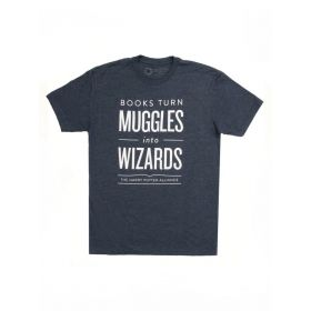 Out of Print: Books Turn Muggles into Wizards Unisex T-Shirt (Medium)