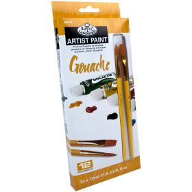 Royal & Langnickel: 12 Gouache Paint Set with 2 Brushes
