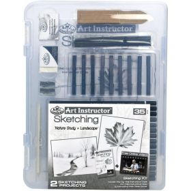 Royal & Langnickel: Art Instructor Sketching Clearview Art Set - 35 pc