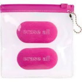 Miquelrius: Candy Colours Set of 2 Erasers (Raspberry)