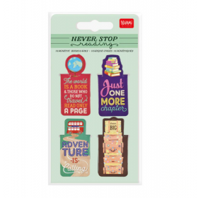 Never Stop Reading: Travel Magnetic Bookmarks