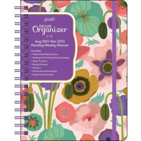Posh: Deluxe Organizer 17-Month 2021-2022 Monthly/Weekly Planner Calendar (Painted Poppies)