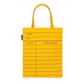 Out of Print: Library Card Tote Bag (Light Yellow)