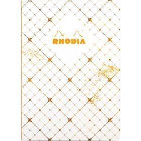 Rhodia Heritage Raw Bound A5 Lined Notebook (Ivory Quadrille)