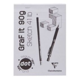 Clairefontaine: Graf It Dot Sketch pad white n°63 A5 (White)