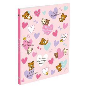 San-X: B5 Binder Notebook - Rilakkuma (Pink)