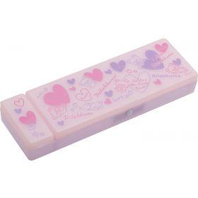 San-X: Plastic Pen Case - Rilakkuma (Pink)