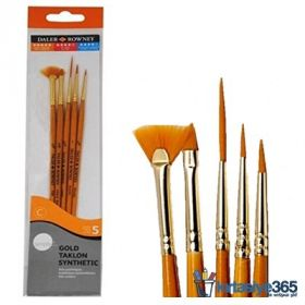 Daler-Rowney: Simply Gold Taklon Synthetic 5-Piece Brush Set