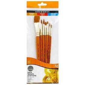 Daler-Rowney: Simply Gold Taklon Synthetic 7-Piece Brush Set