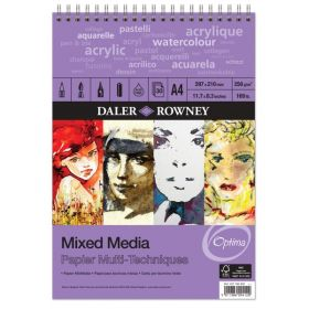Daler Rowney: Optima Mixed Media Painting Pad Spiral, A4 Size