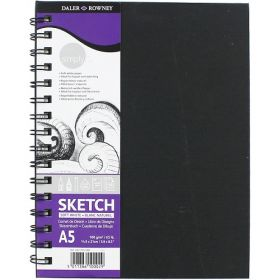 Daler-Rowney: Simply Wirebound Sketchbook (A5 Soft White)