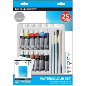 Daler-Rowney: Simply Watercolour Set, Assorted 25 pcs