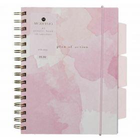 WHsmith Moderno Woman Wiro Bound A5 Project Notebook
