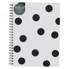 Henley Monochrome Dot Wiro Bound A4 Notebook