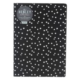 WHsmith: Henley Monochrome Dot B5 Flexi Notebook