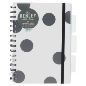 WHsmith: Henley Monochrome Dot A5 Project Notebook