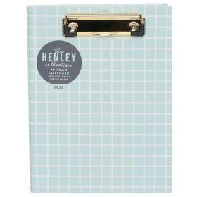 WHSmith: Henley Blue Grid A5 Padfolio