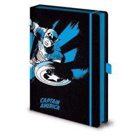 Marvel: Retro Captain America A5 Premium Notebook