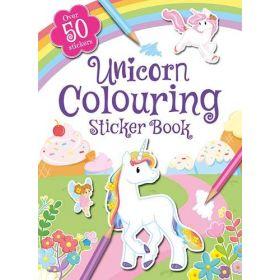 Unicorn Colouring Sticker Book (Paperback)