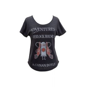 Out of Print: Adventures of Sherlock Holmes Women's Relaxed Fit T-Shirt (Small)