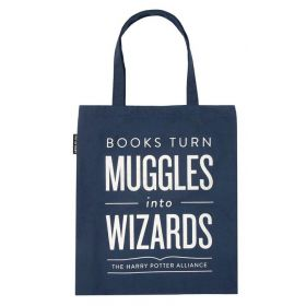 Out of Print: Books Turn Muggles into Wizards Tote Bag