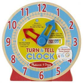 Melissa and Doug: Turn & Tell Wooden Clock