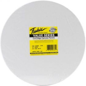 Tara Fredrix: 12 Inches Round 6Pk Cut Edge Panel (White)
