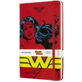 Moleskine Limited Edition Wonder Woman, Large Ruled Notebook (Red)