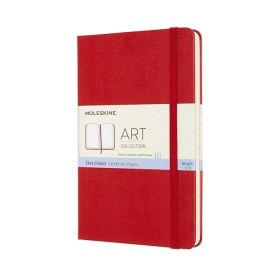 Moleskine Art Sketchbook, Medium, Scarlet Red (Hardcover)