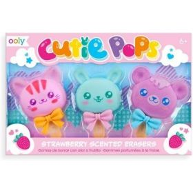 Ooly: Cutie Pops Strawberry Scented Erasers