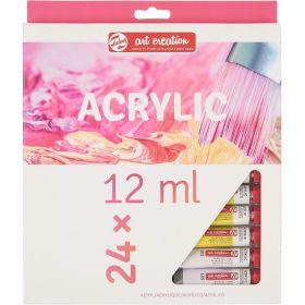Royal Talens: Art Creation 24-Color Acrylic Paint Set (12 ml)